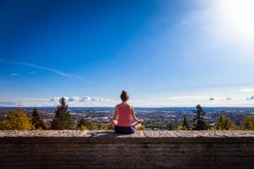 Utsiktsplatsen Billingen - Morgonyoga med utsikt