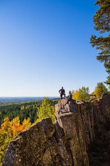 Klättrare på Billingen, fin utsikt och natur
